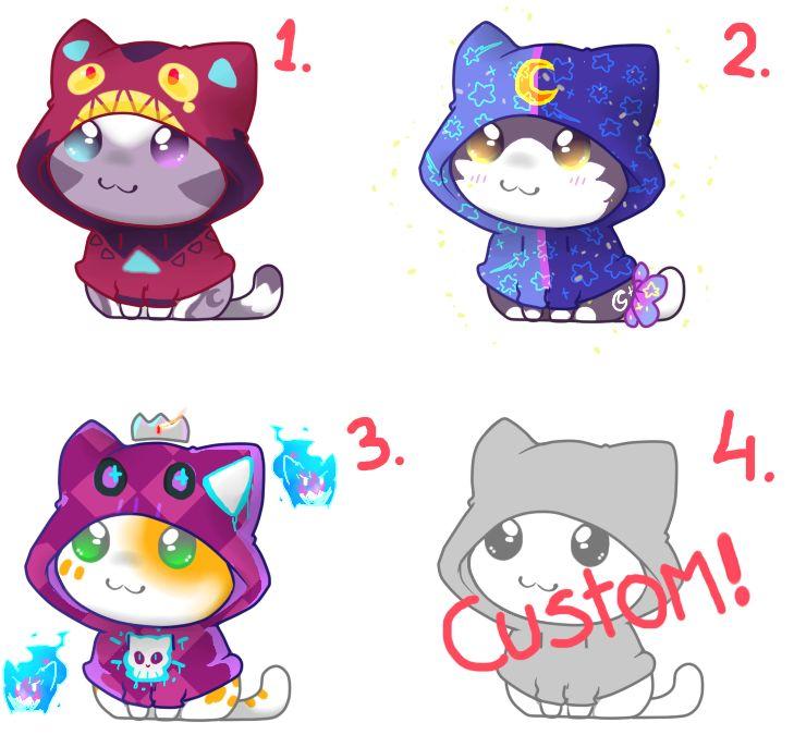 Kawaii Hoodies Kitties Adopts| 20 points | CLOSED by KyubeyGirl