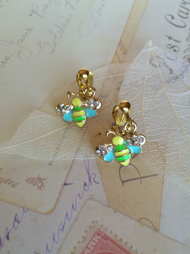 Girls adorable gold plated drop style bees with diamanté $16.95 Inc FREE Shipping Australia Wide SHOP NOW