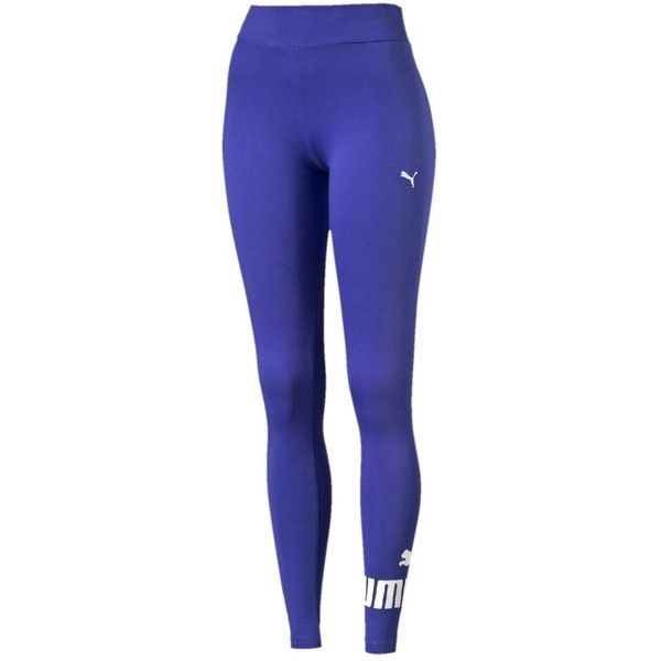 Леггинсы ESS No.1 Leggings W ❤ liked on Polyvore featuring pants, leggings, blue pants, legging pants, blue trousers and blue leggings