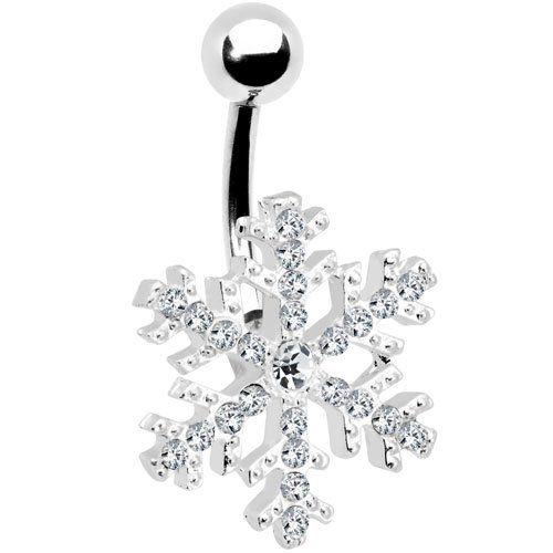 Piercing-Schmuck Bauchnabelpiercing Motiv Schneeflocke Glaskristall: Body Candy: Amazon.de: Schmuck