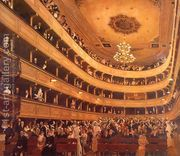 Auditorium in the Old Burgtheater, Vienna  by Gustav Klimt