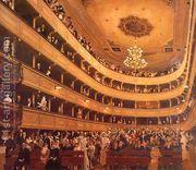 Auditorium in the Old Burgtheater, Vienna  by Gustav Klimt