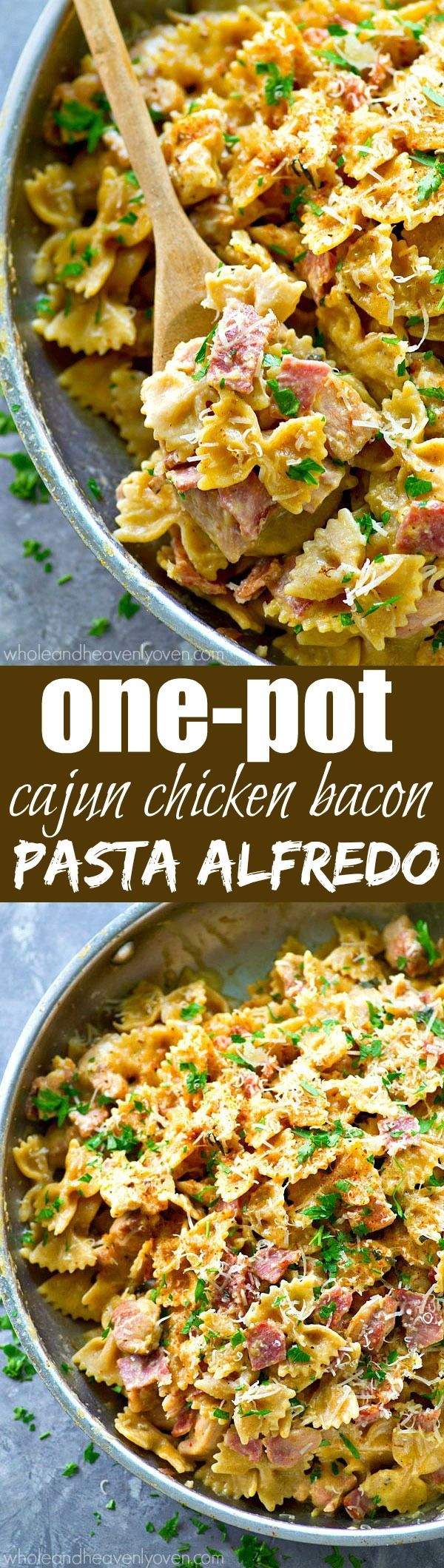 Ready for the ultimate one-pot dinner? This Cajun chicken pasta alfredo is unbelievably simple to throw together and absolutely the best comfort food.