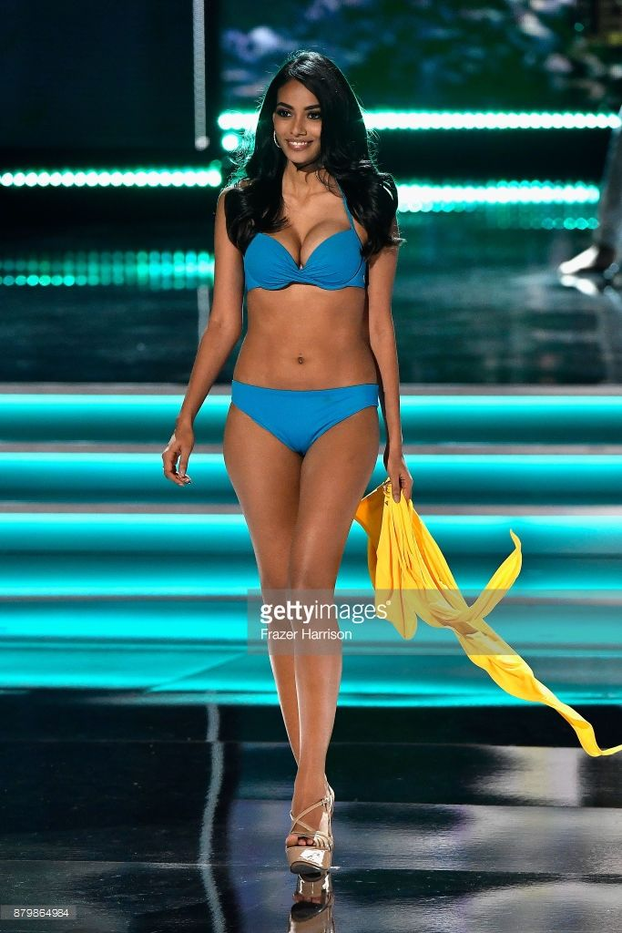 Miss Sri Lanka 2017 Christina Peiris competes in the swimsuit competition during the 2017 Miss Universe Pageant at The Axis at Planet Hollywood Resort & Casino on November 26, 2017 in Las Vegas, Nevada.
