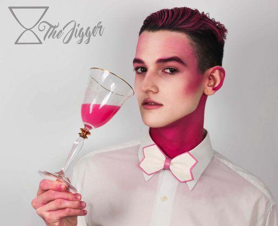 Pajarita Cuero Shirley Tempel Blanco Rosa Cute Unisex por TheJigger