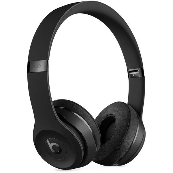 Beats by Dr. Dre Solo 3 Wireless Headphones ($300) ❤ liked on Polyvore featuring men's fashion, men's accessories, men's tech accessories and black