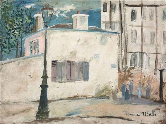 Maurice utrillo la maison de berlioz rue du mont cenis for Art maison la thuile