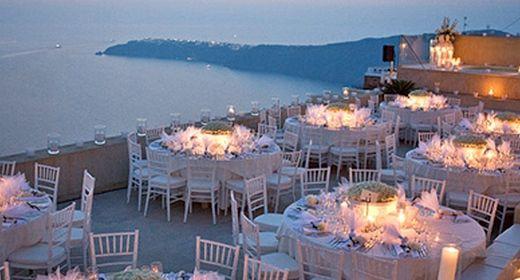 Great Santorini wedding location