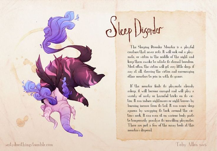 Artist Suffering From Anxiety Illustrates Mental Illnesses As Real Monsters | Sleeping Disorder Monster