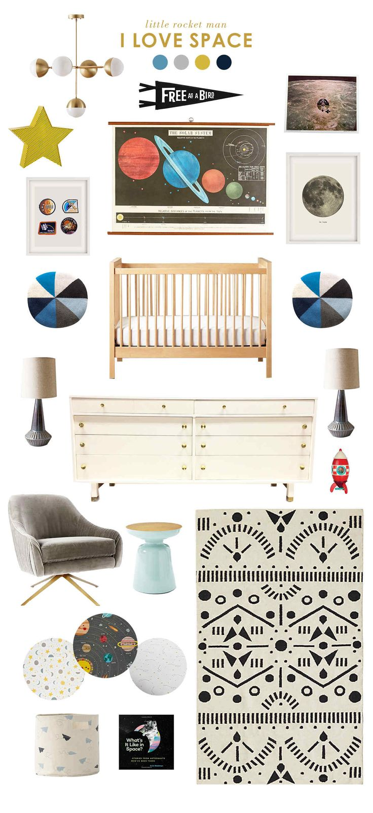 space baby room ideas