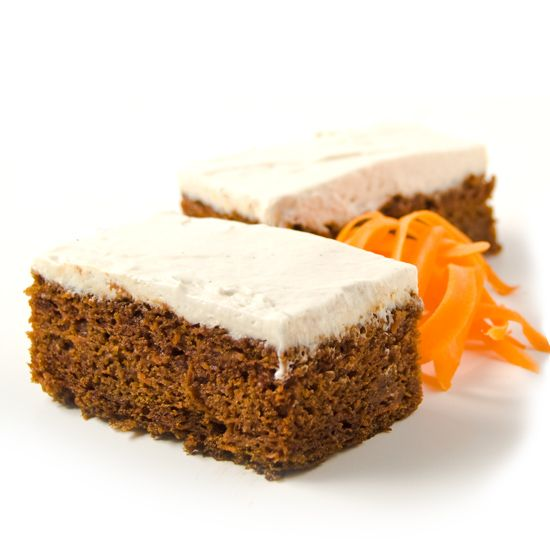 The first ingredient in our carrot cake is organic carrots. That's the way we think it should be - not flour or sugar – just organic carrots. One full serving, in fact. Kind of makes you want to serve it as a side dish with your supper instead of salad.