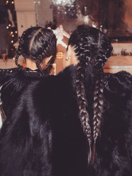 Twinning is always fun, whether it's with your bestie or your mom. Kim Kardashian and North West garnered over 1 million likes for their cute Dutch braid moment.