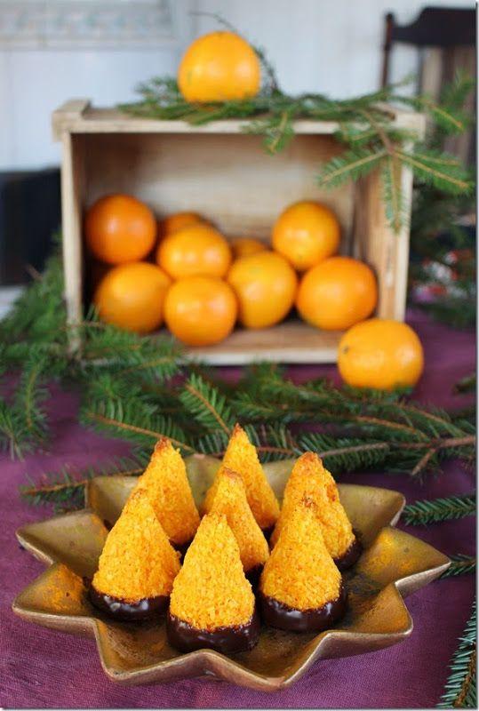 Kokostoppar med saffran och apelsin