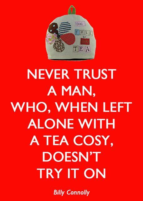 Tea Cosy.                                                   Me, no never !