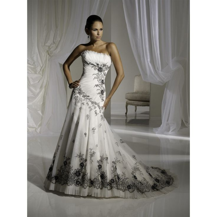 black and white wedding dresses for sale style weddings cheap black 1824