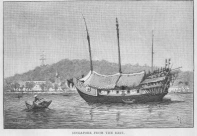 "Singapore from the East Lithograph published in ""The Straits Settlements and British Malaya""  by Sir J. Frederick Dickson K.C.M.G, 1880"