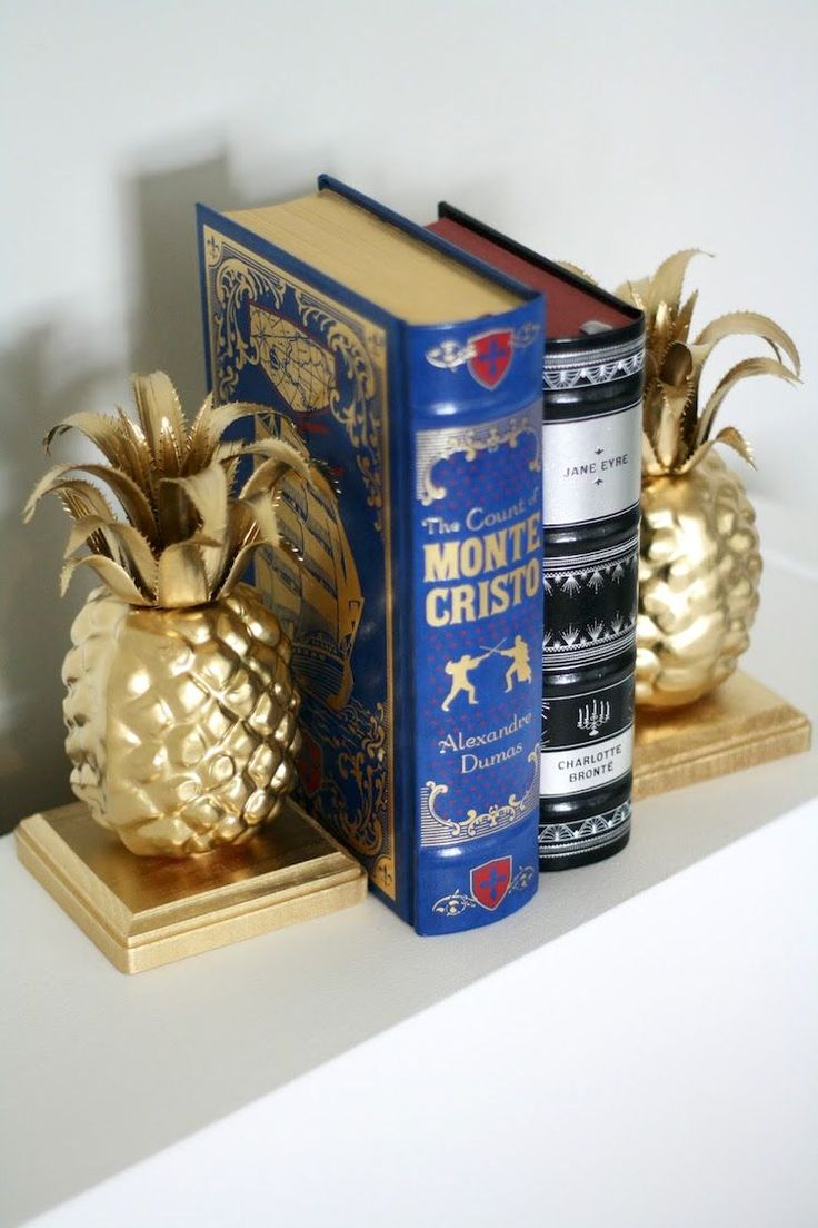 Learn how to make these simple, custom pineapple DIY bookends in just a few steps! The supplies are also very budget friendly. MichaelsMakers DIY Candy