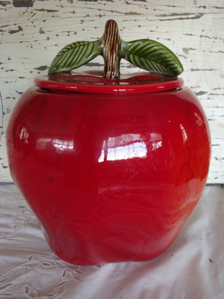 25 best ideas about cookie jars on pinterest owl cookie for Red apple decorations for the kitchen