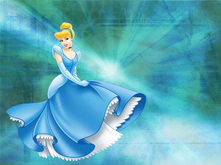 Blue Dress Princess Cinderella Cartoon Disney Wallpaper