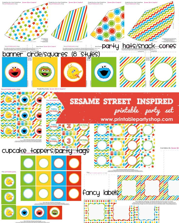 This is a picture of Witty Free Sesame Street Printables