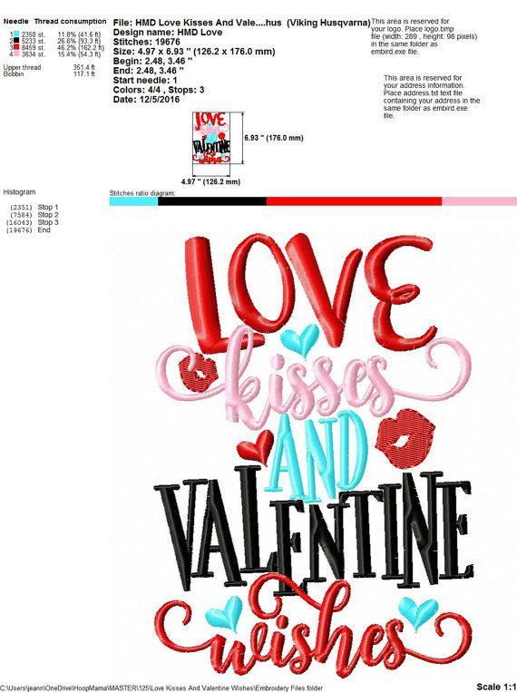 Love Kisses and Valentine Wishes Valentine's Day Machine