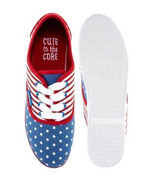 Image 3 of YRU Prime Slim American Flag Print Sneakers