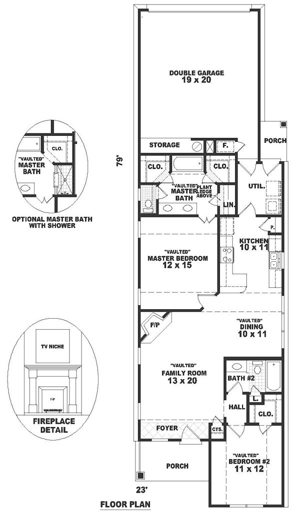 165 best images about small open concept floor plans on for Traditional open floor plans