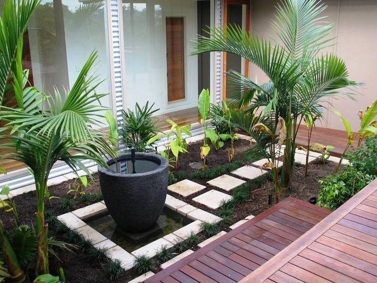 Am nagement petit jardin dans l arri re cour id es modernes d co et design - Petite table de terrasse ...