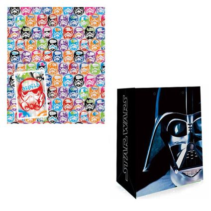 Star Wars Gift Bag and Storm Trooper Gift Wrap & Tag set available from Publishers with Free UK Delivery for only £5 at https://www.danilo.com/Shop/Cards-and-Wrap/Birthday-Packs/Star-Wars-Stormtrooper-Wrap-and-Bag-Pack