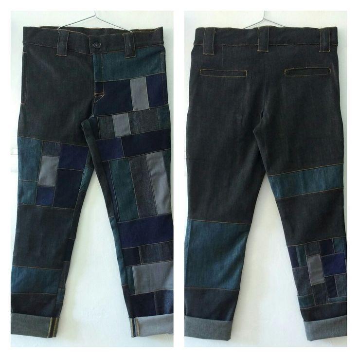 #Jeans #Denim #Indigo #Upcycling #PatchWork