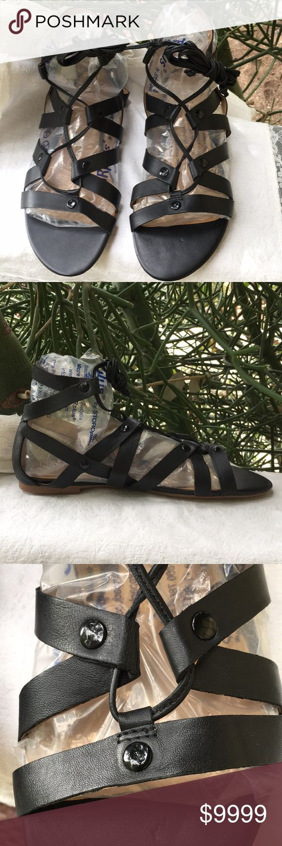 NWOB! Banana Republic Gladiator Sandals New without box!  Beautiful black gladiator sandals by Banana Republic-Hello Sole Mate. These have never been unwrapped or worn.  They can be worn as seen in second pic or laced up leg.  Size: 8.5M Banana Republic Shoes Sandals
