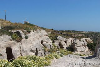 Caves and rock formation just below the village of Kefalos |Discovering Kos and the surrounding islands http://www.discoveringkos.com/2013/10/caves-and-rock-formation-just-below.html