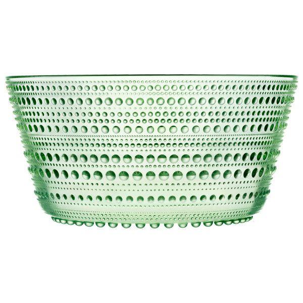 Iittala Kastehelmi bowl 1,9 L, apple green ($59) ❤ liked on Polyvore