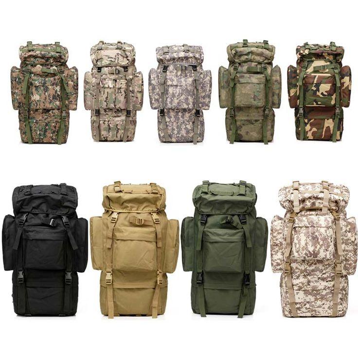 65L большая емкость ManTactical путешествия рюкзак на открытом воздухе кемпинг туризм сумка для фотокамеры для альпинисты дождевик металлический каркас