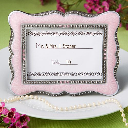 Pink Place Cards Photo Frames $3.36