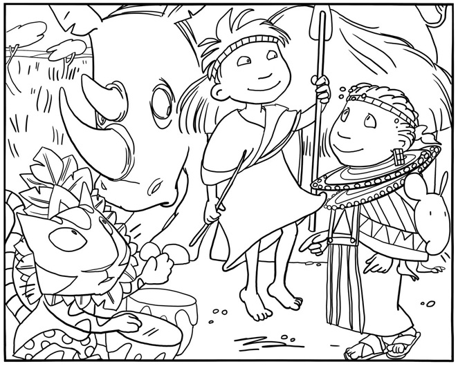 africa coloring pages preschool - photo#8