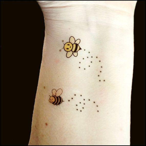 Temporary tattoos honey bees tattoos fake by SharonHArtDesigns