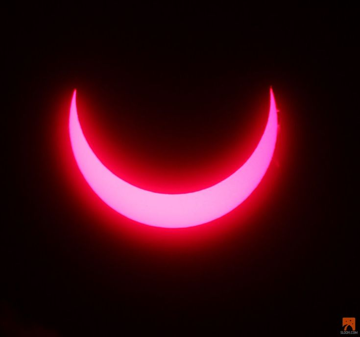 This image shows the annular solar eclipse of May 9, 2013, as seen through a solar telescope in Australia. The image is a still from video provided by the Slooh community telescope.