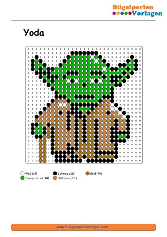 Star Wars Yoda Bügelperlen Vorlage