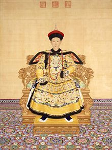 Qianlong- the 6th emperor of the Manchu led Qing dynasty and brought it to its peak until the end of his rule