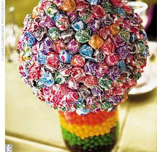 Dum Dum Lollipop centerpiece.