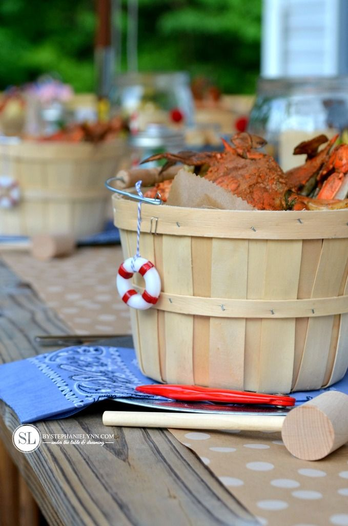 Summer Deck party Crab Feast #michaelsmakers