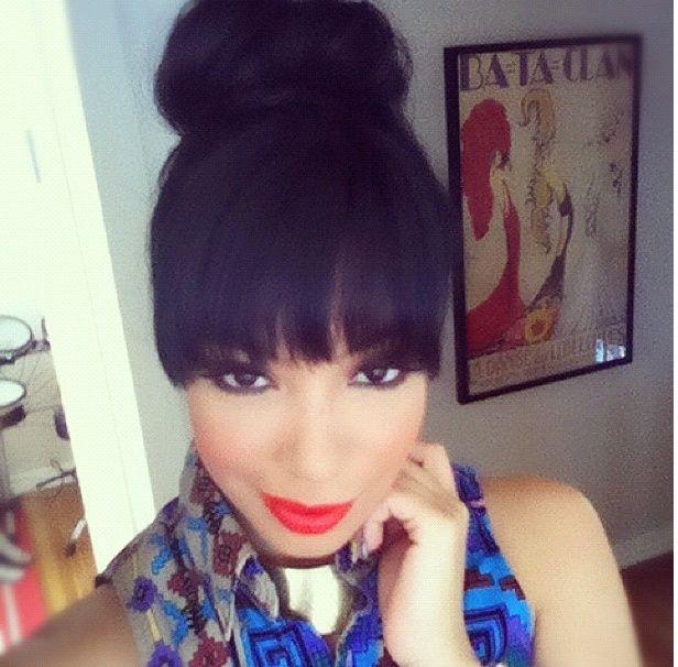 high bun hairstyles for black women | bun hairstyles with ...