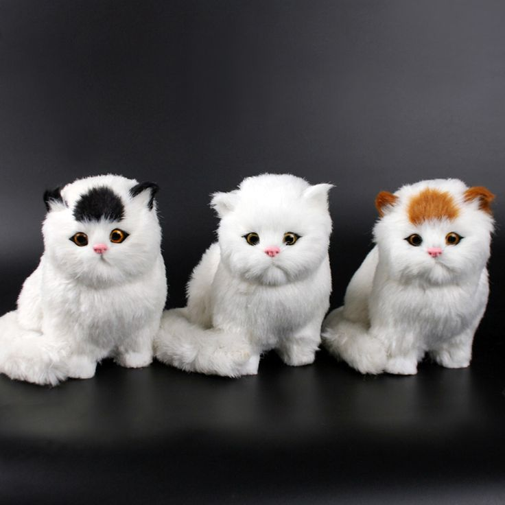 Plush Cat Doll Kids animal toys cat will meowth children's pet cats plush toy model ornaments birthday gifts Electronic kid Pet