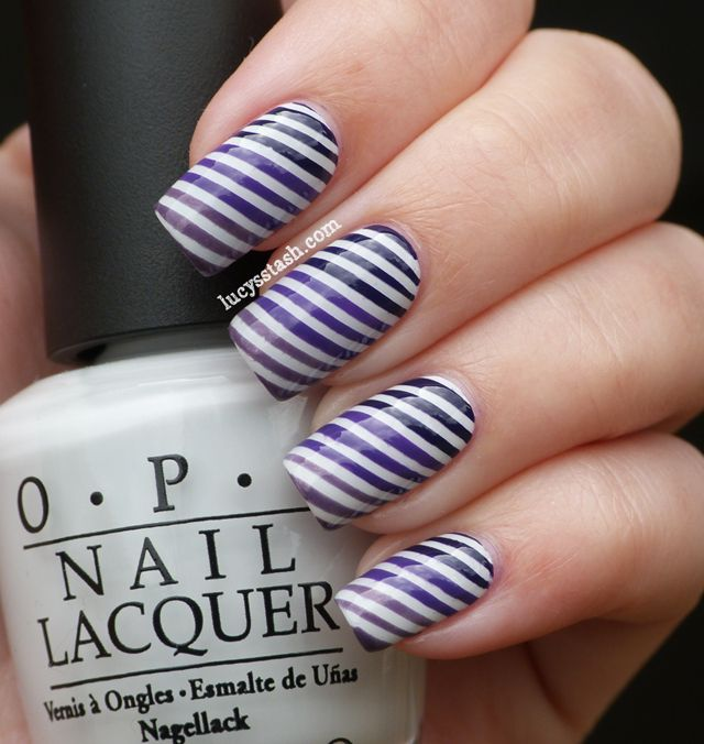 Striping Tape Nail Art Tutorial: Best 25+ Striped Nails Ideas On Pinterest
