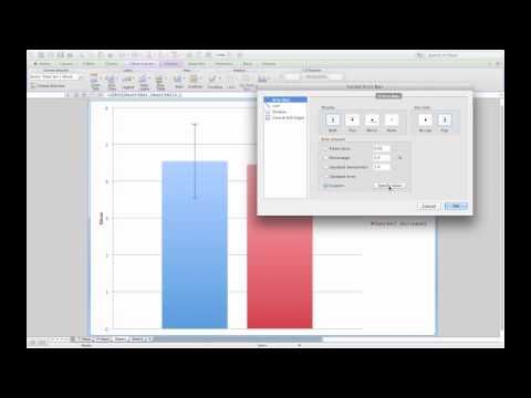 Adding standard error bars to a column graph in Microsoft Excel - YouTube