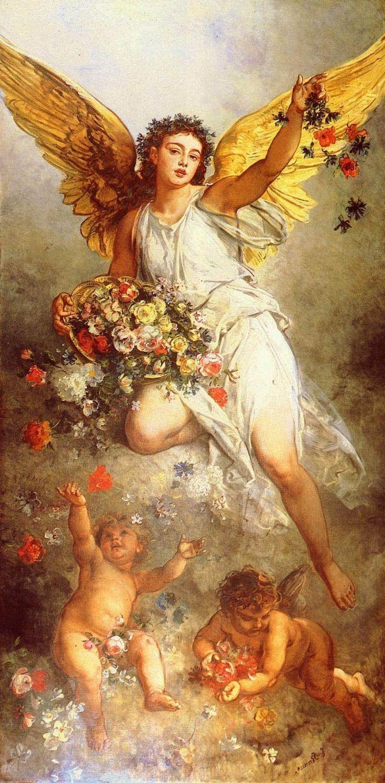 декупажные картинки античные боги и ангелы градиентные