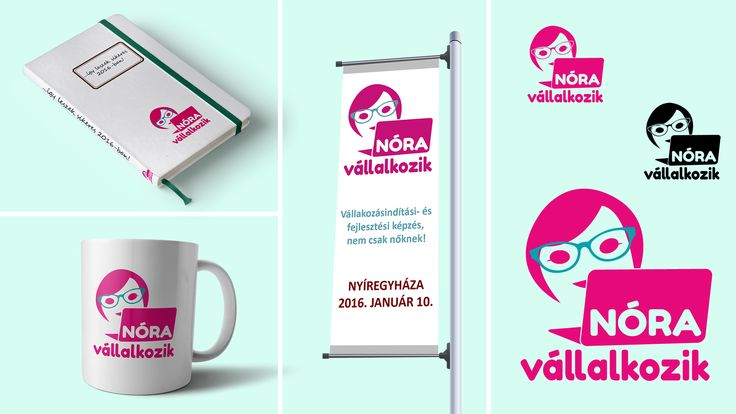 Logo design for a women entrepreneurs organization.
