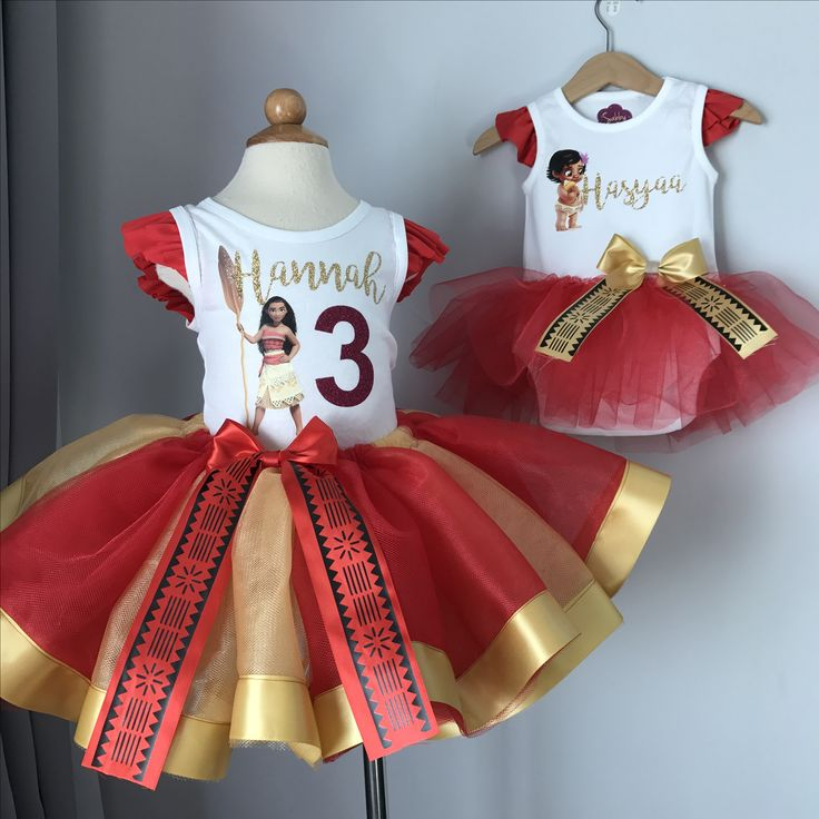Moana tutu outfits -matchy matchy sister sets, Moana birthday
