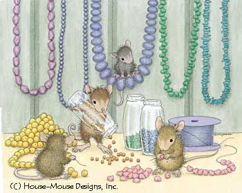 """""""Mudpie, Maxwell, Monica and Amanda"""" from House-Mouse Designs featured on the The Daily Squeek® for Sept. 15th, 2013. Click on the image to see it on a bunch of really """"Mice"""" products."""